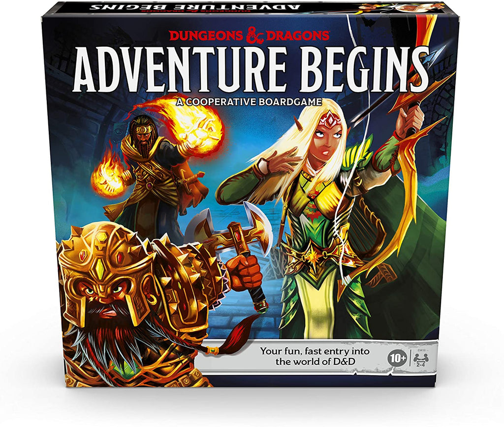 Dungeons & Dragons Adventure Begins, Cooperative Fantasy Board Game, Fast Entry to The World of D&D