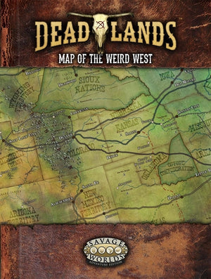 Deadlands: The Weird West - Map Of The Weird West