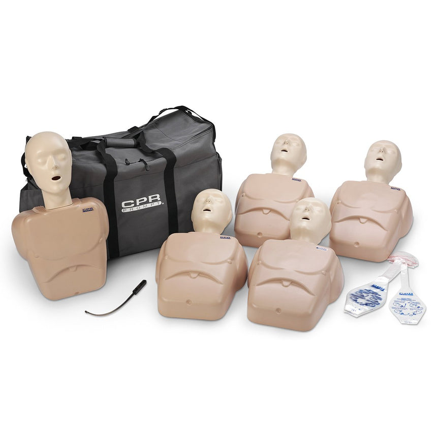 CPR Prompt® TPAK 100 Adult/Child Training Pack - 5 Tan Manikins