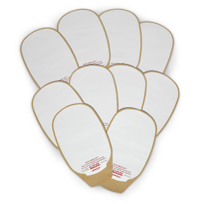 "ElectroLast™ AED Trainer ""Skin"" Electrode Peel-Off Pads: Medtronic Physio-Control Style"