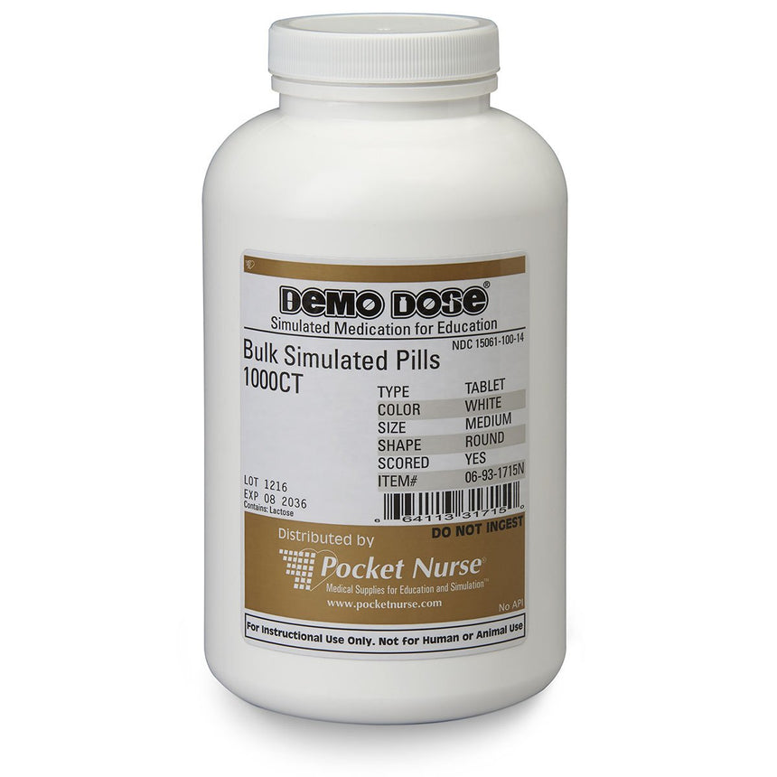 Demo Dose® Bulk Simulated Meds - Tablets - Scored