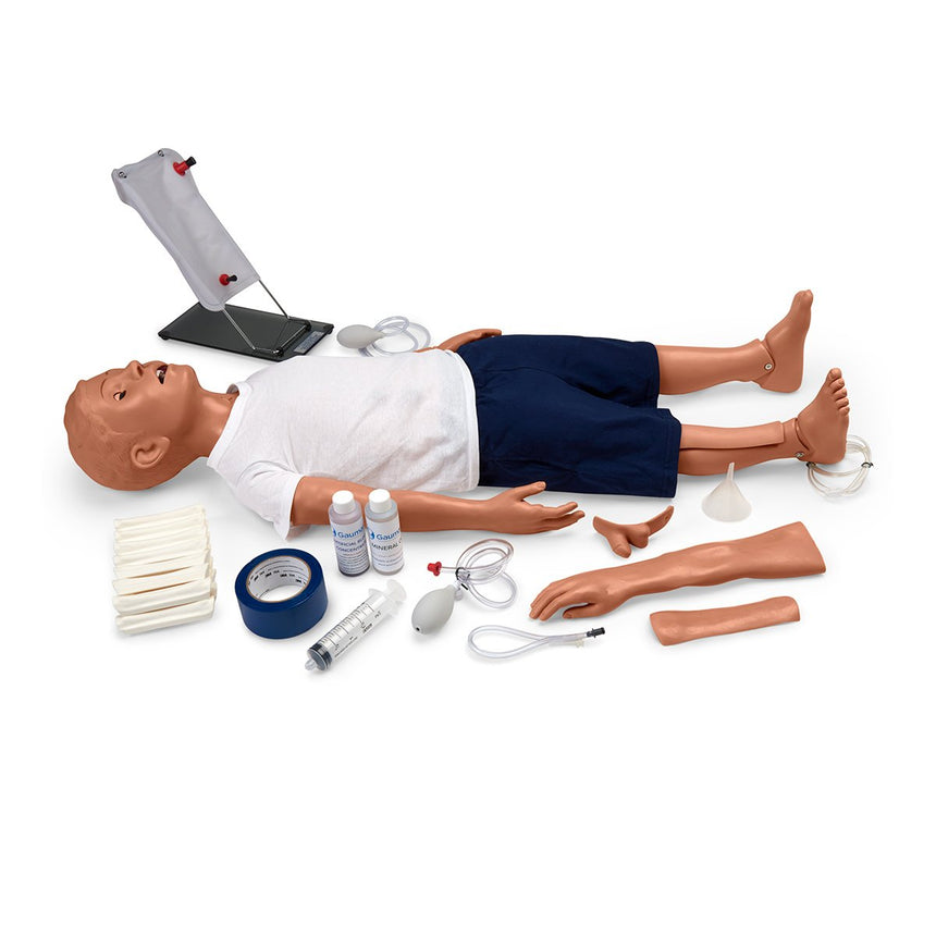 Gaumard® Multipurpose Patient Care and CPR Pediatric Simulator - 5-Year-Old Manikin - Medium
