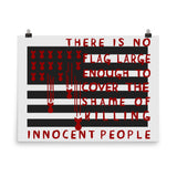 There Is No Flag Large Enough - Anti Imperialist, Anti Imperialism, Anti War, Socialist, Anarchist Poster
