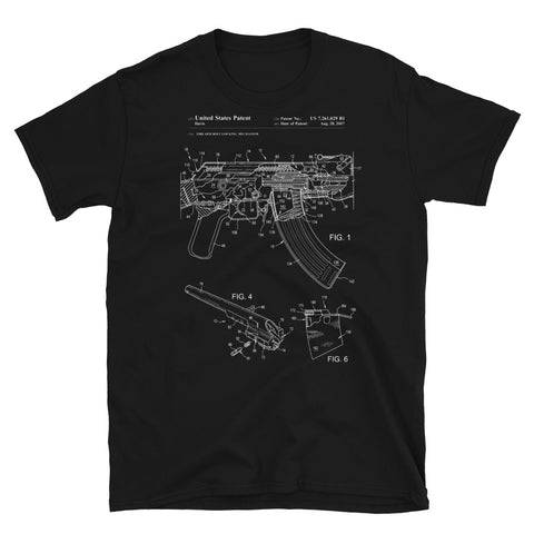 AK47 Patent - Blueprints, Gun Design T-Shirt