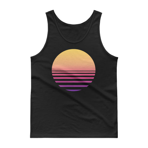 Vaporwave Sunset - Synthwave, 80s Aesthetic, EDM, Japanese Tank Top