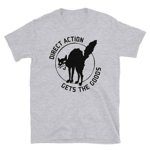 Direct Action Gets The Goods - IWW Sabo-Tabby, Labor Union, Leftist T-Shirt