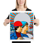 Soviet Worker's Poster - Recolored, Refinished, Communist, Propaganda, Vintage, Soviet Union Poster