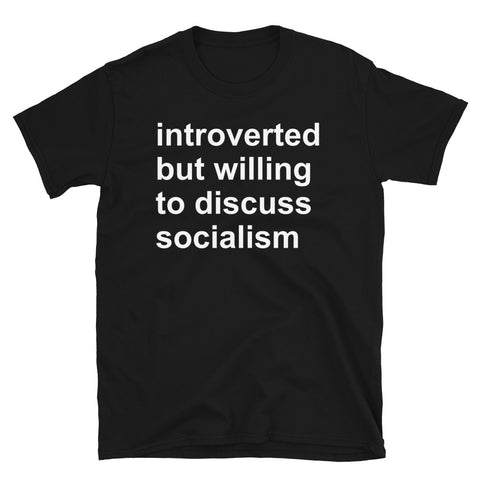 Introverted But Willing To Discuss Socialism - Socialist, Activist, Bernie Sanders T-Shirt