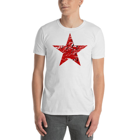 Faded Red Star - Socialist, Leftist, Communist T-Shirt