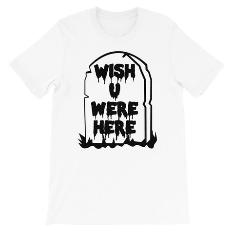 Wish U Were Here - Pastel Goth, Soft Grunge, Tombstone, Kawaii Aesthetic T-Shirt