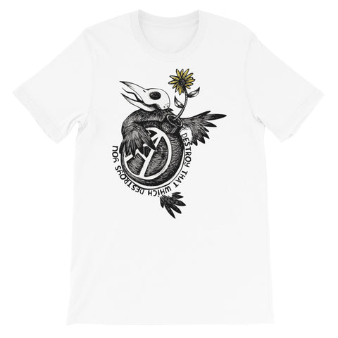 Destroy That Which Destroys You - Anarchist, Radical, Bird T-Shirt