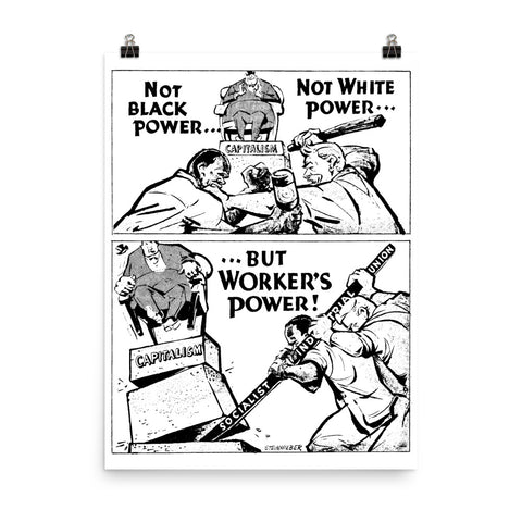 Worker's Power - Refinished Socialist Propaganda Poster
