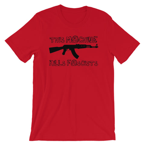 This Machine Kills Fascists - AK47, Graffiti T-Shirt