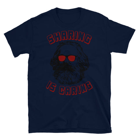 Sharing Is Caring - Karl Marx Silhouette, Socialist, Marxist, Democratic Socialism, Leftist T-Shirt