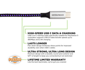 3.6m USB C-to-C Gaming Cable™