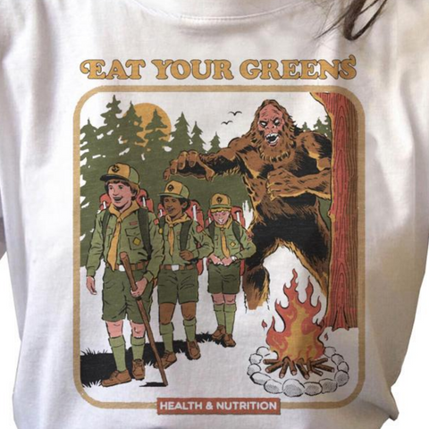 Eat Your Greens Bigfoot Vintage Style Shirt