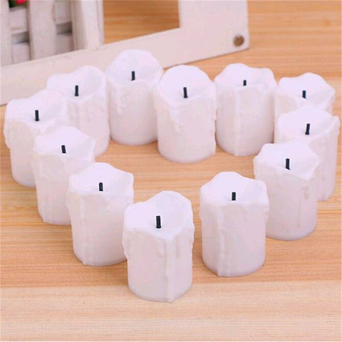 Set of 12 Battery Powered LED Flameless Candles