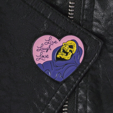Live Laugh Love He-Man Skeletor Enamel Pin