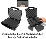 "CASEMATIX 12"" Customizable Foam Case for Portable Electronics - Hard Carrying Case with Impact-Absorbing Pre-Diced Foam Interior"