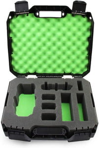 CASEMATIX Rugged Hard Case Compatible with DJI Mavic Pro 2 Drone or DJI Mavic 2 Zoom and Accessories in Green Foam, Includes Case Only