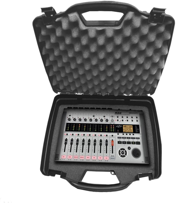 CASEMATIX Studio Case Compatible with Zoom R24 Portable Controller and Digital Stereo Interface, Zoom R8 Multi Track Table Top Recorders, Tac2R, MrS8 and More Audio Equipment