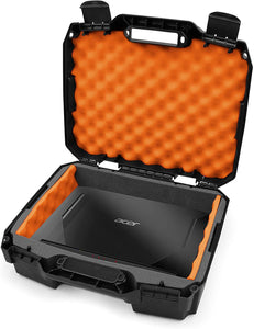 "CASEMATIX 15.6"" Hard Laptop Case Compatible with Acer Nitro 5 Gaming Laptop, Asus Zephyrus G14, MSI GS65 Stealth, Razer, Dell XPS 15, Gigabyte Aero 15 and 15 inch Gaming Laptop Accessories, Orange Foam"