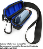 CASEMATIX Black Asthma Inhaler Travel Case for Children and Adults, Includes Case Only