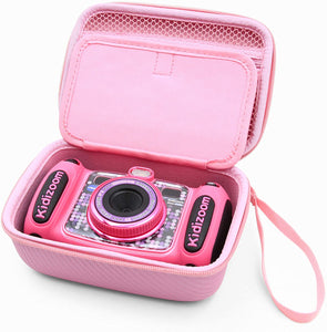CASEMATIX Pink Kids Camera Case for VTech Kidizoom Camera Pix Duo Twist, Includes Case Only