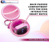 CASEMATIX Kids Smartwatch Travel Case Compatible with Little Tikes Tobi Robot Smartwatch for Kids - Hard Case Compatible with Tobi Watch for Kids with Carabiner and Accessory Storage - Pink CASE ONLY