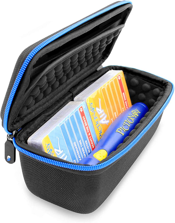 CASEMATIX Organizer Travel Case Fits Pictionary Air Pen and Card Game Decks, Includes Case Only