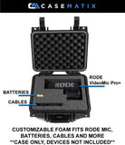 CASEMATIX 11 inch Airtight Camera Microphone Case for Rode VideoMic Pro , Video Mic Pro 4, Shotgun Condenser , Rycote Lyre and Accessories - Case Only