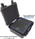 "CASEMATIX 13"" Hard Case for 2 Handguns - Waterproof & Shockproof 2 Pistol Hard Case, Double Handgun Case with Accessory Storage for Multiple Magazines"