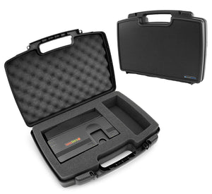 CASEMATIX Travel Case Compatible with Konami TurboGrafx-16 Mini Hardware and Controller, PC Engine CoreGrafx Mini Hard Shell Carrying Case with Foam