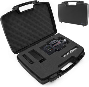 CASEMATIX Travel Case Compatible with Zoom H8 Handy Recorder - Hard Shell Carrier for Audio Recorder and Accessories with Customizable Foam Interior