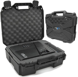 CASEMATIX Projector Travel Case with Hard Shell Outer & Foam Interior Compatible with Select Epson VS240, VS345, VS340 3LCD, XGA, SVGA & 3D Projectors