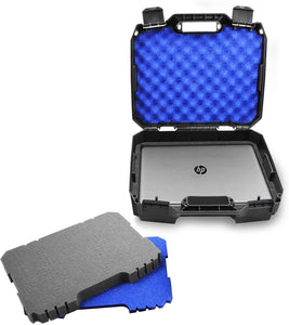 "CASEMATIX Laptop Hard Case for 15.6"" Laptops with Customizable Foam Compatible with HP Elite Dragonfly, Pavillion, Envy 360 X360, Stream 14"
