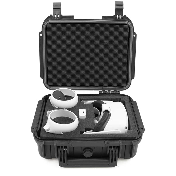 CASEMATIX Waterproof Hard Case Compatible with Oculus Quest 2 and Oculus Quest VR Gaming Headset & Accessories - Crushproof, Waterproof & Lockable Oculus Quest Case Storage with Customizable Foam