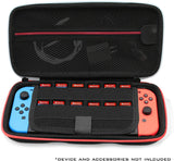 CASEMATIX Carrying Case for Nintendo Switch with 8 Game Slots, Non-Scratch Divider for Screen Protection, Accessory Storage and Comfortable Handle, Hard Shell Switch Carrying Case for Travel