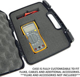 CASEMATIX Digital Multimeter Case Compatible with Fluke Multimeter Fluke 117, Fluke 87 V and More Leads and Accessories Includes Case Only