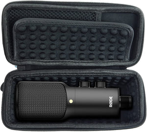 CASEMATIX USB Condenser Microphone Case Compatible with NT USB, NTUSB, NT1 A, Mics and Small Cables