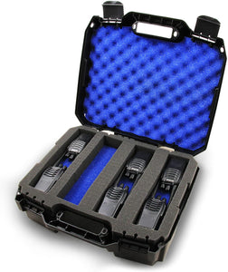 CASEMATIX Customizable 2-Way Radio Case Compatible with Up to 16 Walkie Talkies & UHF FRS Accessories by Arcshell, Baofeng, Midland, Motorola and More