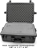 "CASEMATIX 23"" Customizable 7 Pistol Multiple Pistol Case - Waterproof & Shockproof Hard Gun Cases for Pistols, Magazines and Accessories - Multi Gun Case for Pistols with Two Layers of 2"" Thick Foam"