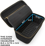 CASEMATIX Hard Case Compatible with Blue Yeti Nano Microphone and other USB Recording Microphones & Accessories - Includes Streaming Mic Case Only