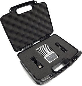 CASEMATIX Studio Microphone Case Compatible with MV51 Digital Large Diaphragm Condenser Mic, MVI Audio Interface, MV88, MVL, Lavalier Mic and More