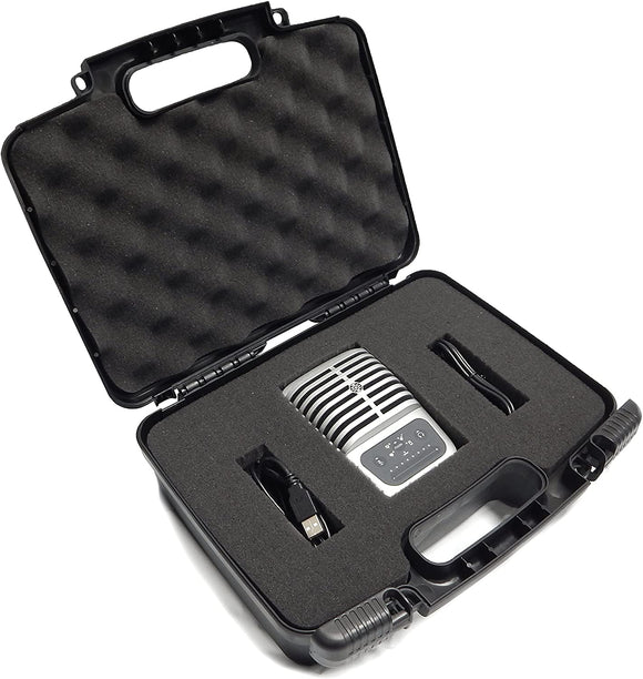 CASEMATIX Studio Microphone Case Compatible with MV51 Digital Large Diaphragm Condenser Mic, MVI Audio Interface, MV88, MVL, Lavalier Mic and More, Includes Case Only