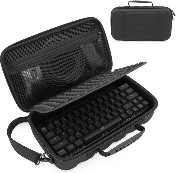 CASEMATIX 60% Keyboard Case Compatible with Razer Huntsman Mini, HK Gaming GK61, KEMOVE Snowfox, DIERYA DK61E & More 61 Keys up to 11.5