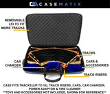 CASEMATIX Garage Box Case Compatible with Anki Overdrive Starter Kit Tracks and Expansion Tracks, Supercars, Charging System