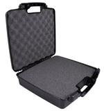 "CASEMATIX 15.5"" Hard Travel Case with Padlock Rings and Customizable Foam - Fits Accessories up to 13.25"" x 10.5"" x 2"""