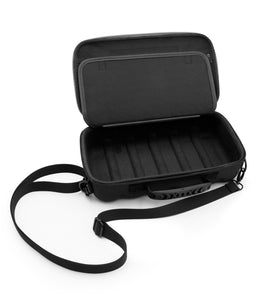 "CASEMATIX 12.75"" Hard Shell EVA Travel Case with Shoulder Strap and Padded Divider - Fits Accessories up to 11.5"" x 5.5"" x 2"""
