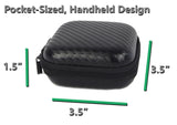 "CASEMATIX 3.5"" Hard Shell EVA Travel Case with Wrist Strap - Fits Accessories up to 3"" x 3"" x 1.2"""